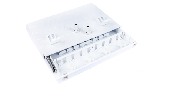 ABS, Sliding Fiber patch panel, with front faceplate 24 port LC Duplex-img-1